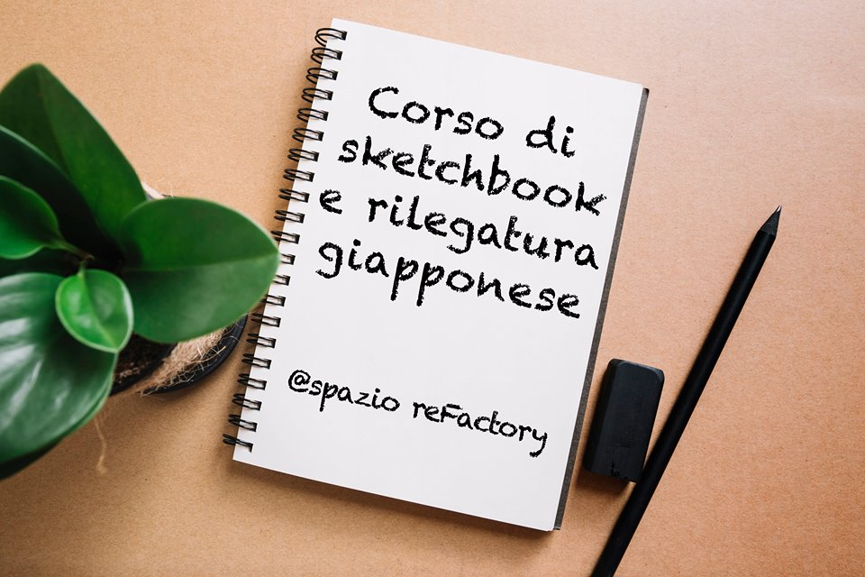 workshop sketchbook con rilegatura giapponese